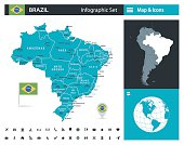Brazil - infographic map - Illustration