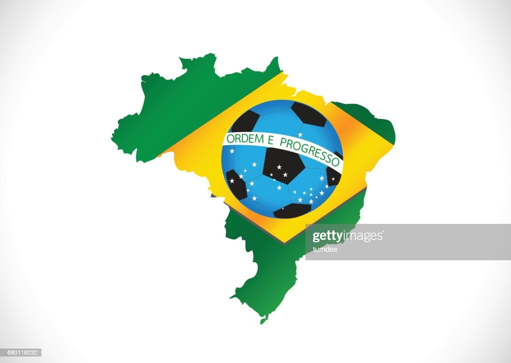 Brazil map and soccer ball vector art getty images brazil map and soccer ball vector art gumiabroncs Gallery