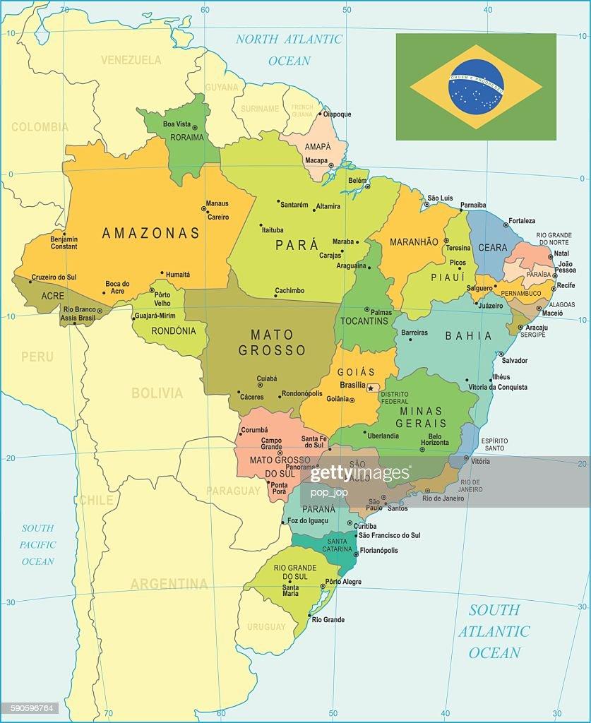 Brazil Map - illustration