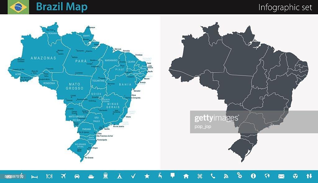 Brazil Map - Infographic Set