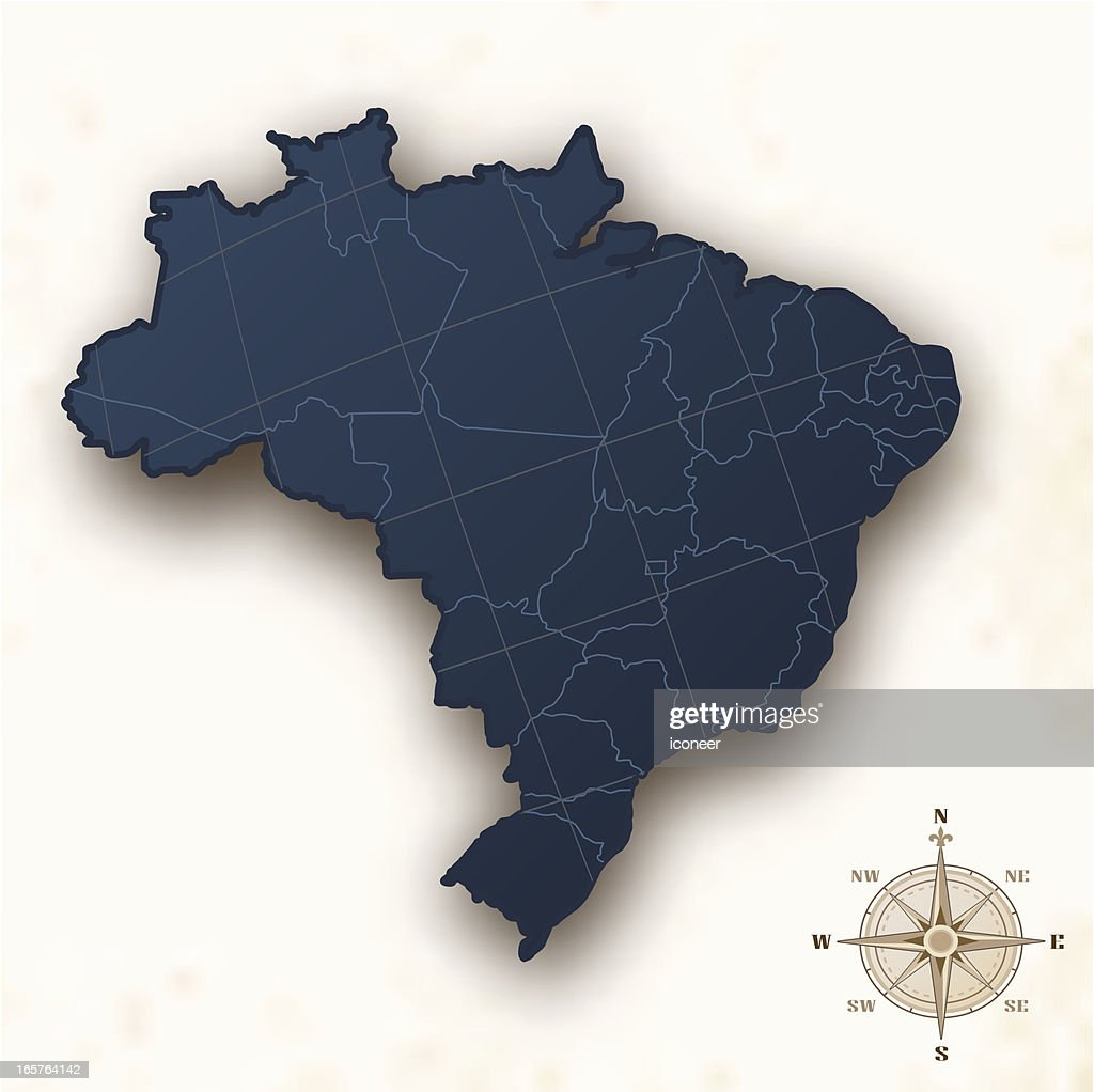 Brazil map old style
