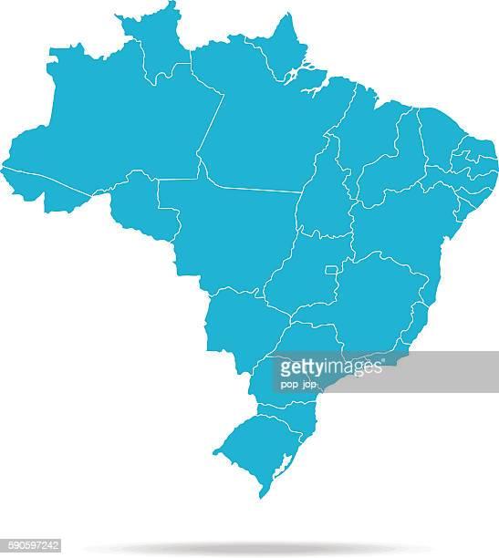 brazil map - brazil stock illustrations