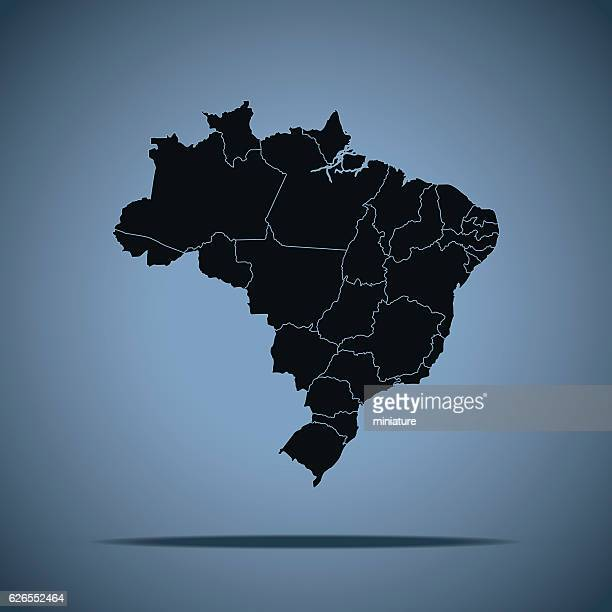 brazil map - politics and government stock illustrations, clip art, cartoons, & icons