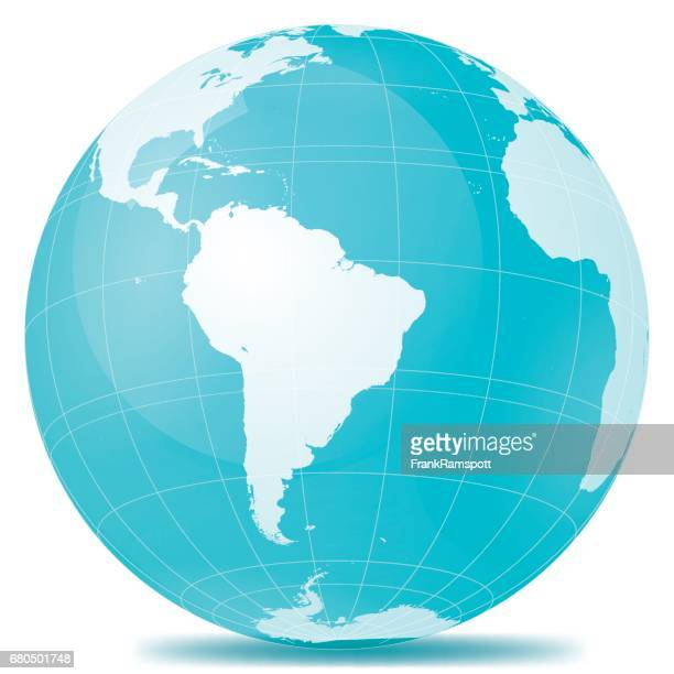 brazil planet earth blue white - south america stock illustrations