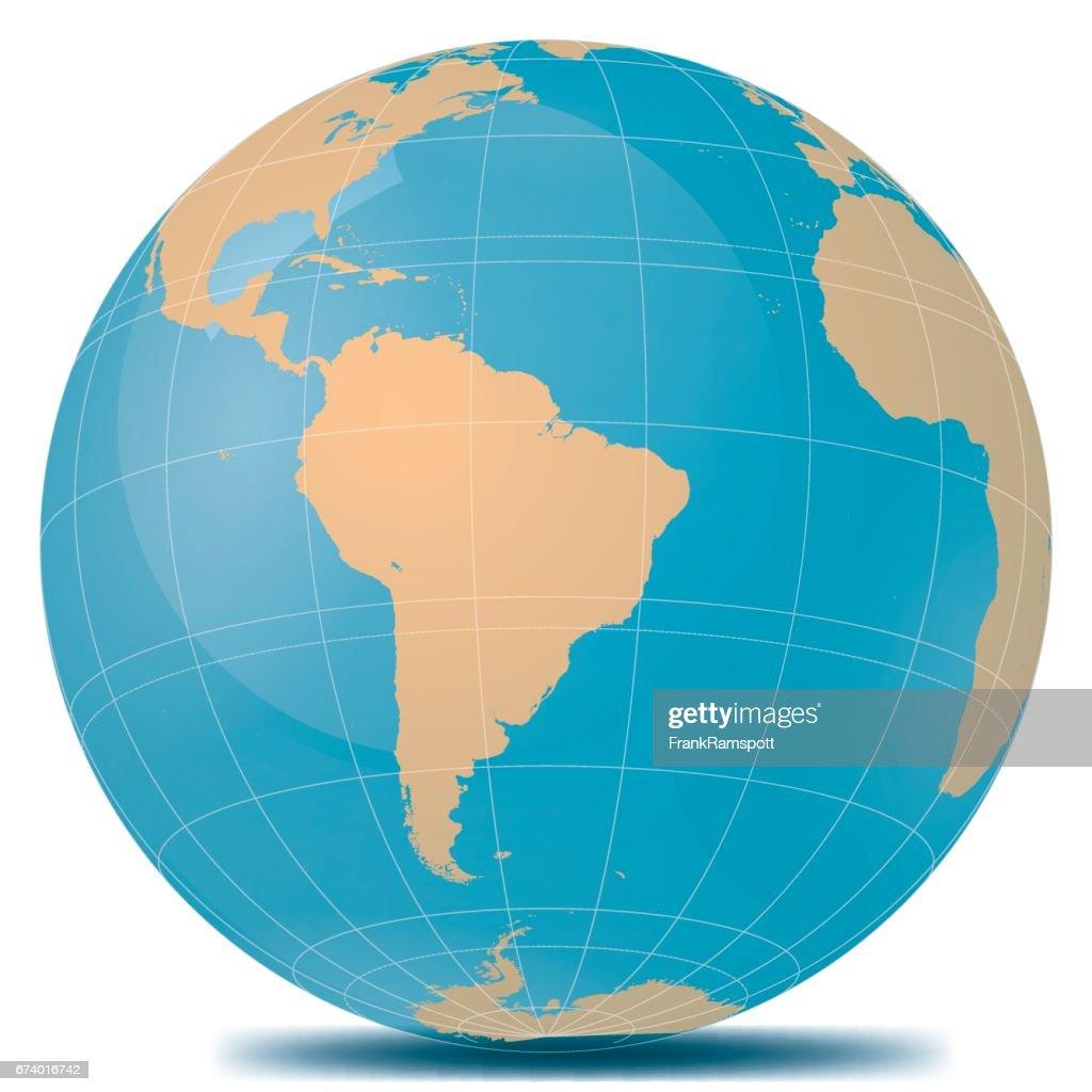 Brasilien-Erde : Stock-Illustration