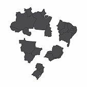 Brazil regions maps