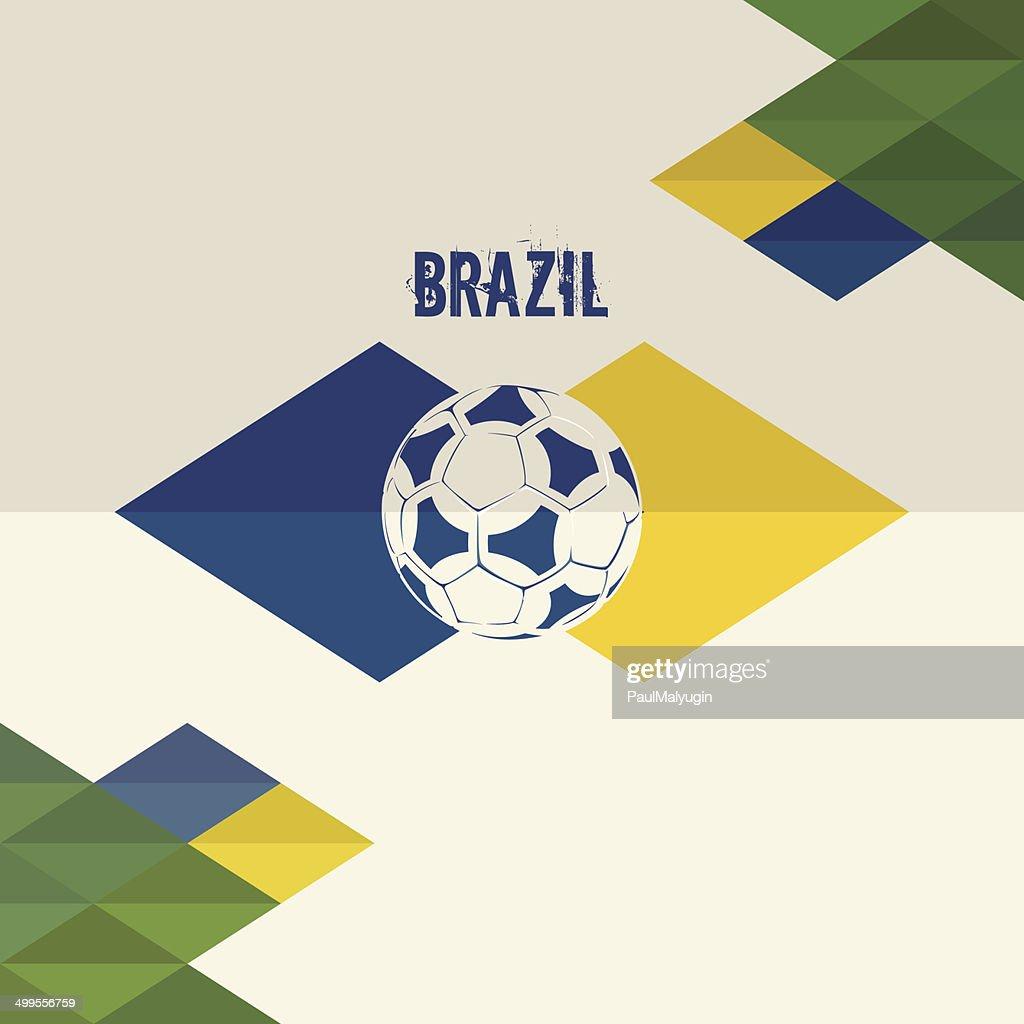 Brazil soccer background