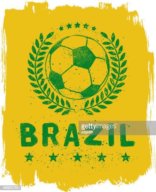 ilustrações, clipart, desenhos animados e ícones de placa de futebol brasileiro - football