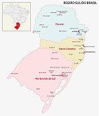 brazil south region map