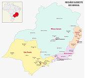brazil southeast region map