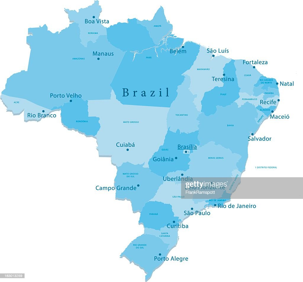 Brazil Vector Map Regions Isolated Vector Art Getty Images
