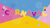 Brazilian Carnaval colorful modern background vector