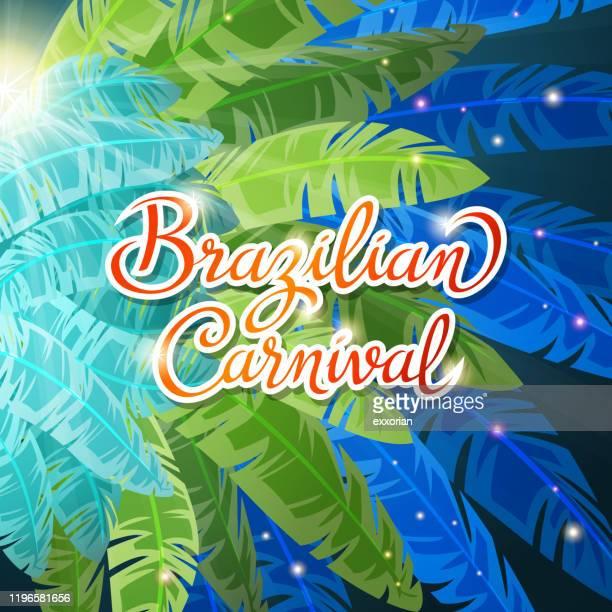 brazilian carnival samba dance - samba stock illustrations