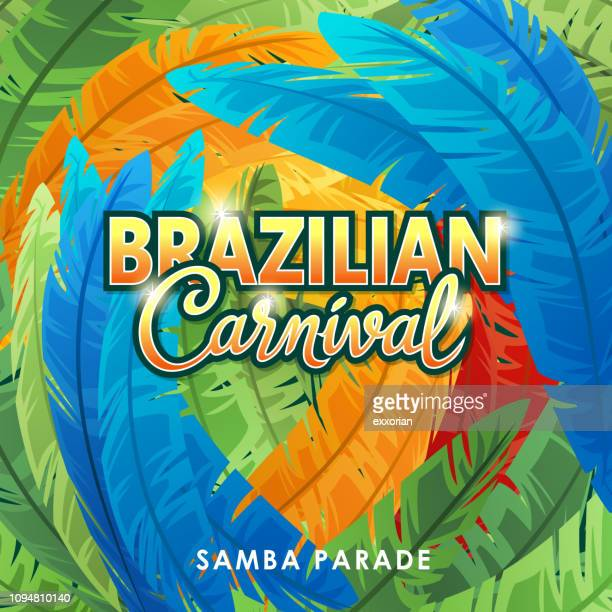 brazilian carnival samba parade - samba stock illustrations