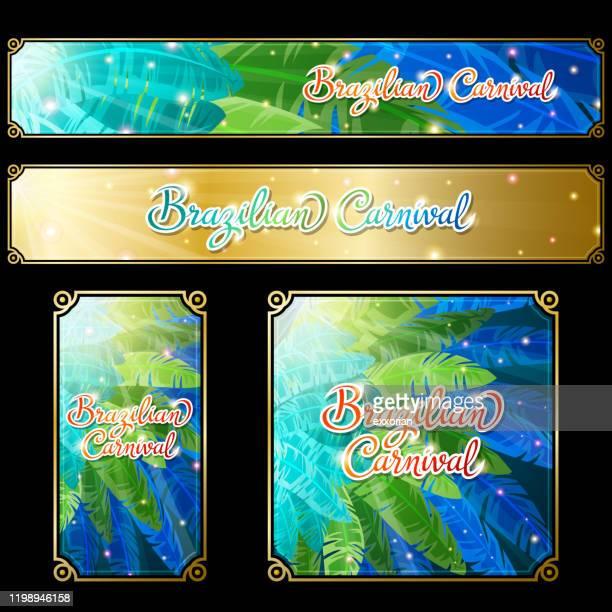brazilian carnival web banner - samba stock illustrations