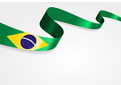 Brazilian flag background. Vector illustration