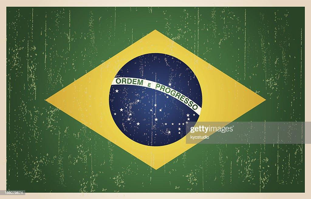 Brazilian grunge vintage flag