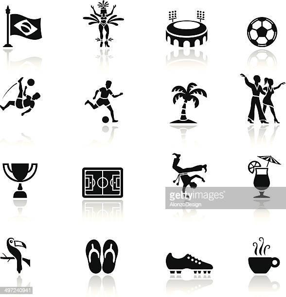 ilustrações de stock, clip art, desenhos animados e ícones de conjunto de ícones do brasil - capoeira