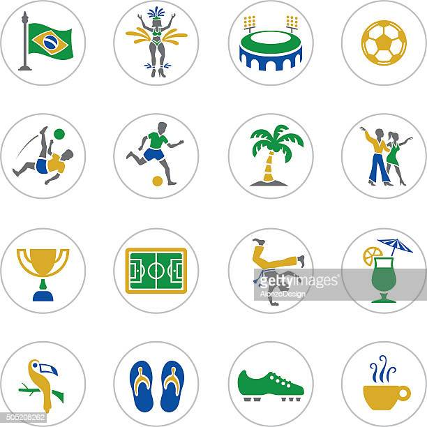 brazilian icons - samba stock illustrations