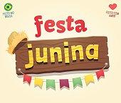 Brazilian june party cool sign logo