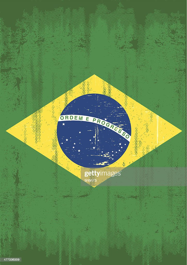 Brazilian vertical grunge flag