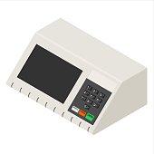 Brazilian voting machine vector illustration isolated on white background