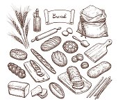 Bread and Ingredients.