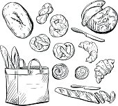 Bread. Buns. Baking. Vector illustration.