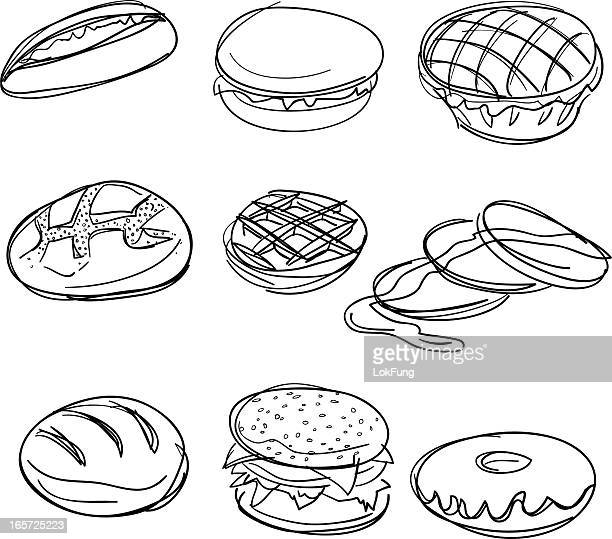 Bread collection in Black and White