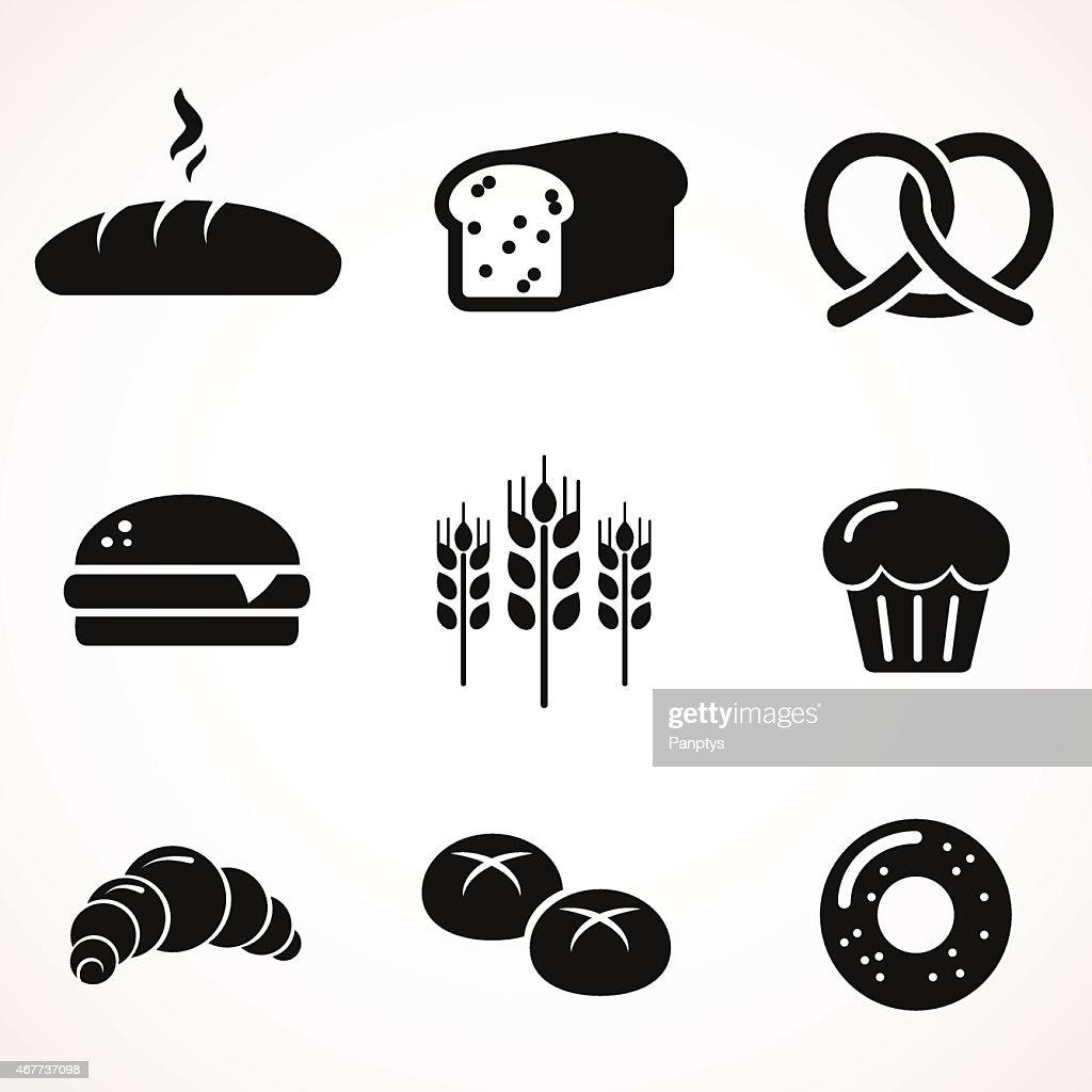 Bread icon set.