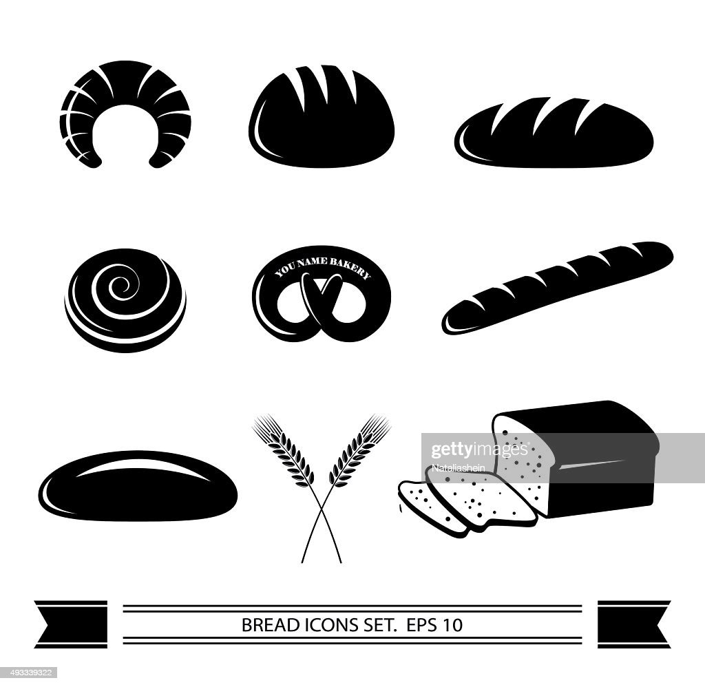 Bread icon set.
