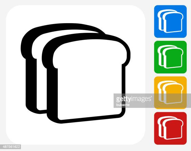 Bread Slices Icon Flat Graphic Design