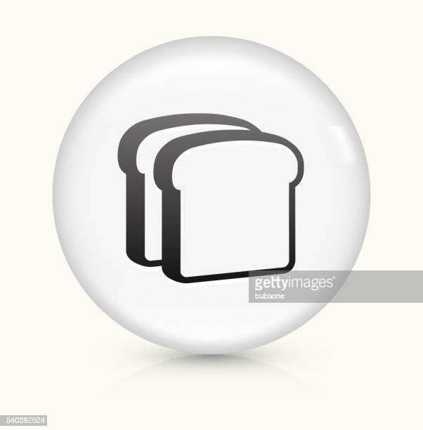 Bread Slices icon on white round vector button