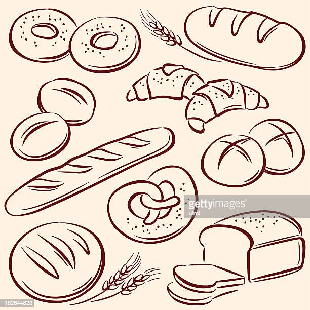 bread - sweet bun stock illustrations, clip art, cartoons, & icons