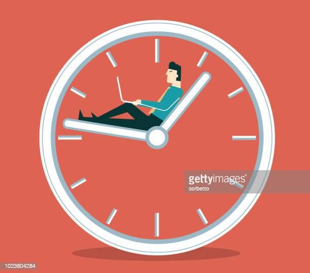illustrations, cliparts, dessins animés et icônes de temps de pause - homme d'affaires - pause café