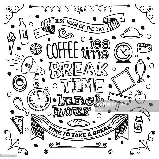 break time - coffee break stock illustrations, clip art, cartoons, & icons