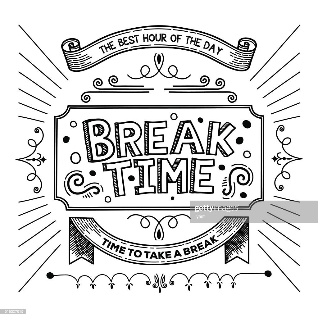break time high-res vector graphic