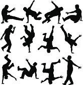 Breakdancer Silhouettes