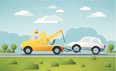 Breakdown Service Tow Truck Vector
