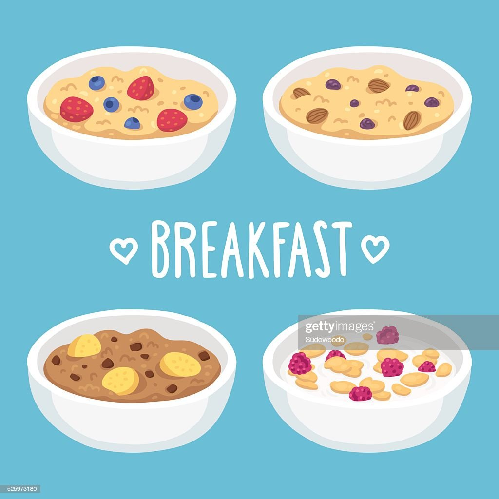 Breakfast cereal bowls