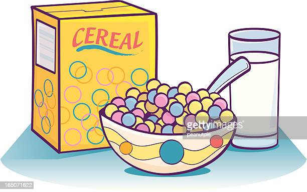 breakfast cereal - breakfast cereal stock illustrations, clip art, cartoons, & icons
