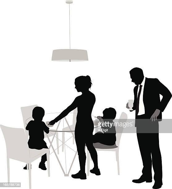 ilustrações de stock, clip art, desenhos animados e ícones de breakfastfamily - mesa cafe da manha