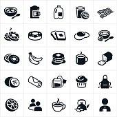 Breakfast Foods Icons