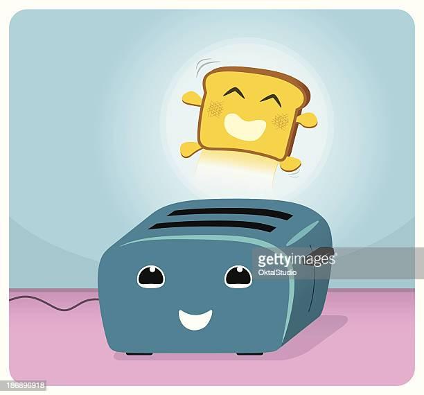 breakfast fun - toast bread stock illustrations, clip art, cartoons, & icons