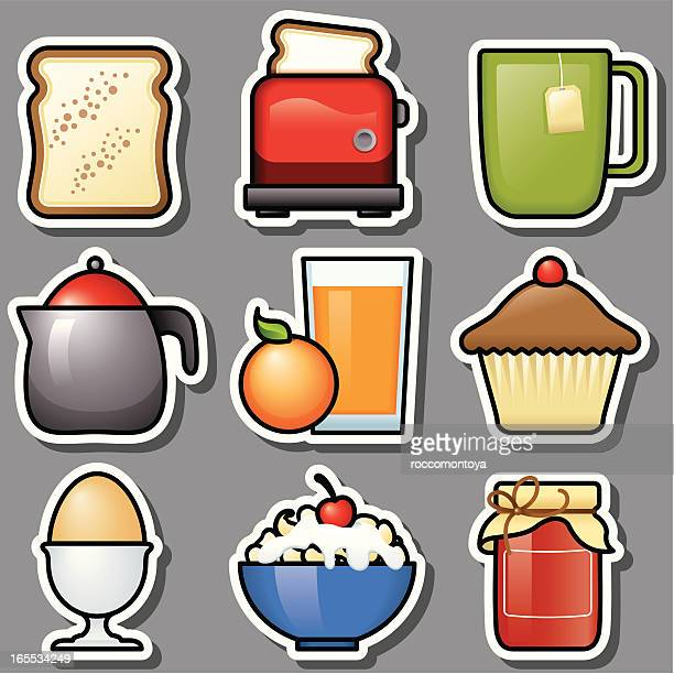 breakfast grey icons - toasted sandwich stock illustrations, clip art, cartoons, & icons