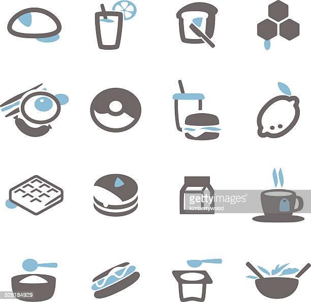 breakfast icon - waffle stock illustrations, clip art, cartoons, & icons