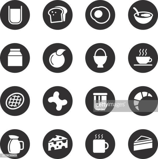 breakfast icons - black circle series - marmalade stock illustrations, clip art, cartoons, & icons