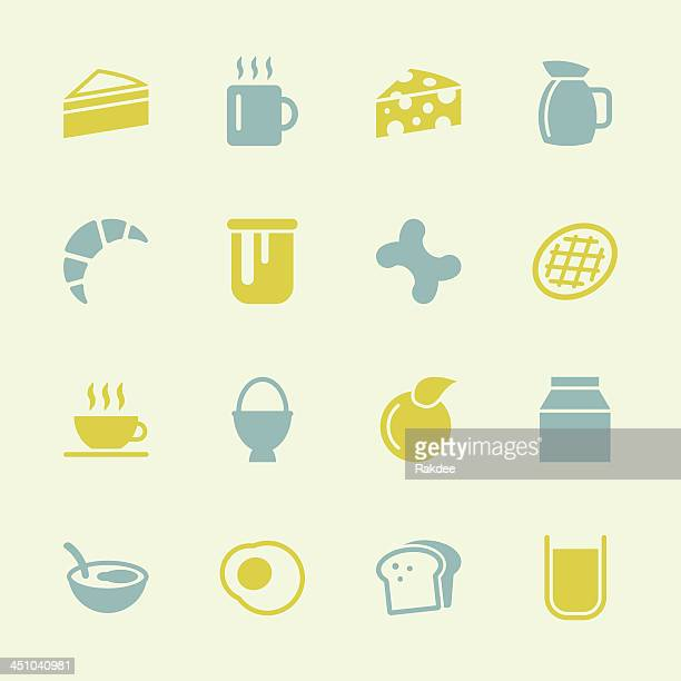breakfast icons - color series | eps10 - marmalade stock illustrations, clip art, cartoons, & icons