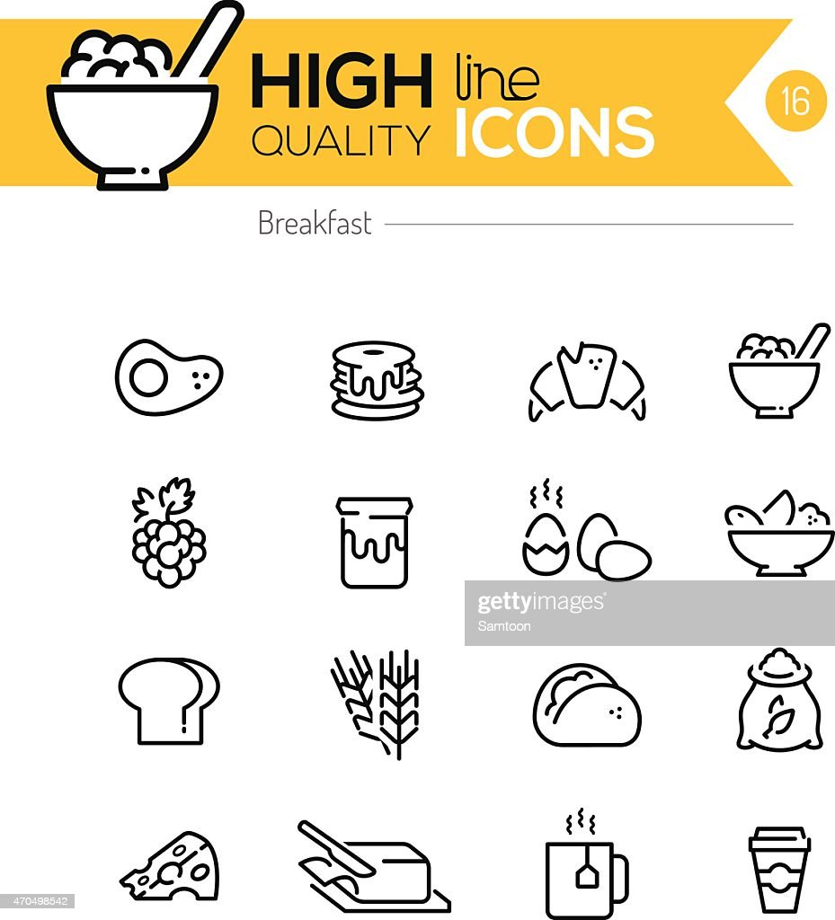 Breakfast Icons line series
