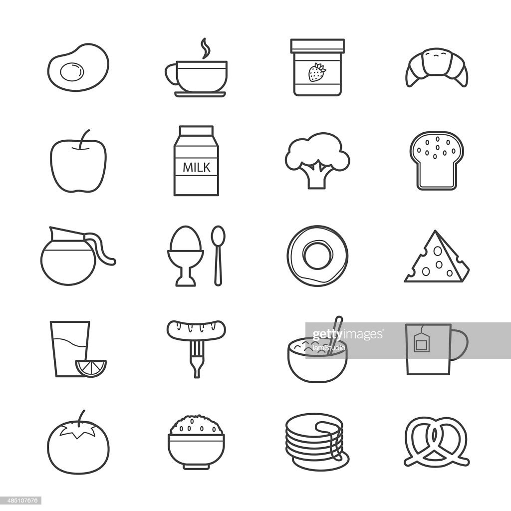 Breakfast Icons Line